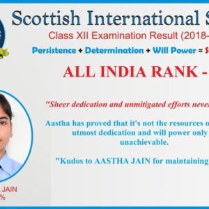 Astha Jain (All India Rank -4) CBSE XII Result 2019