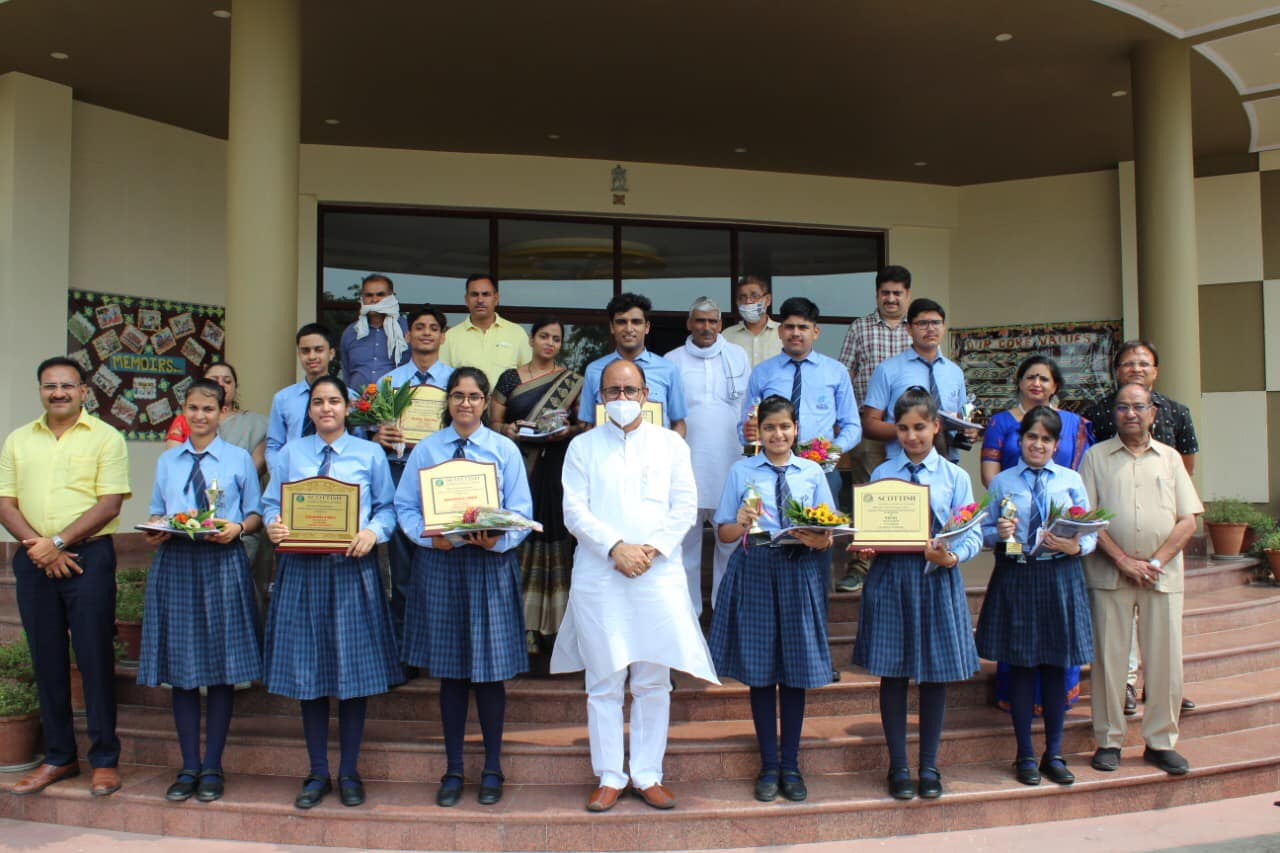 Mr. Pradeep Choudhary(MP) Felicitated The Rank Holders of Class X & XII